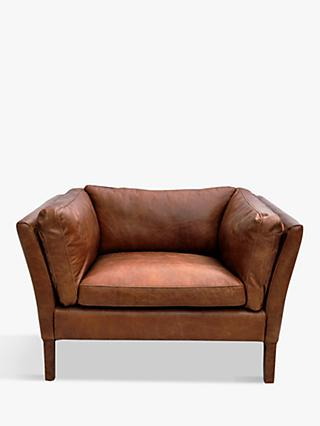 Halo Groucho Aniline Leather Armchair