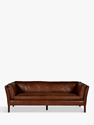 Groucho Range, Halo Groucho Large 3 Seater Leather Sofa