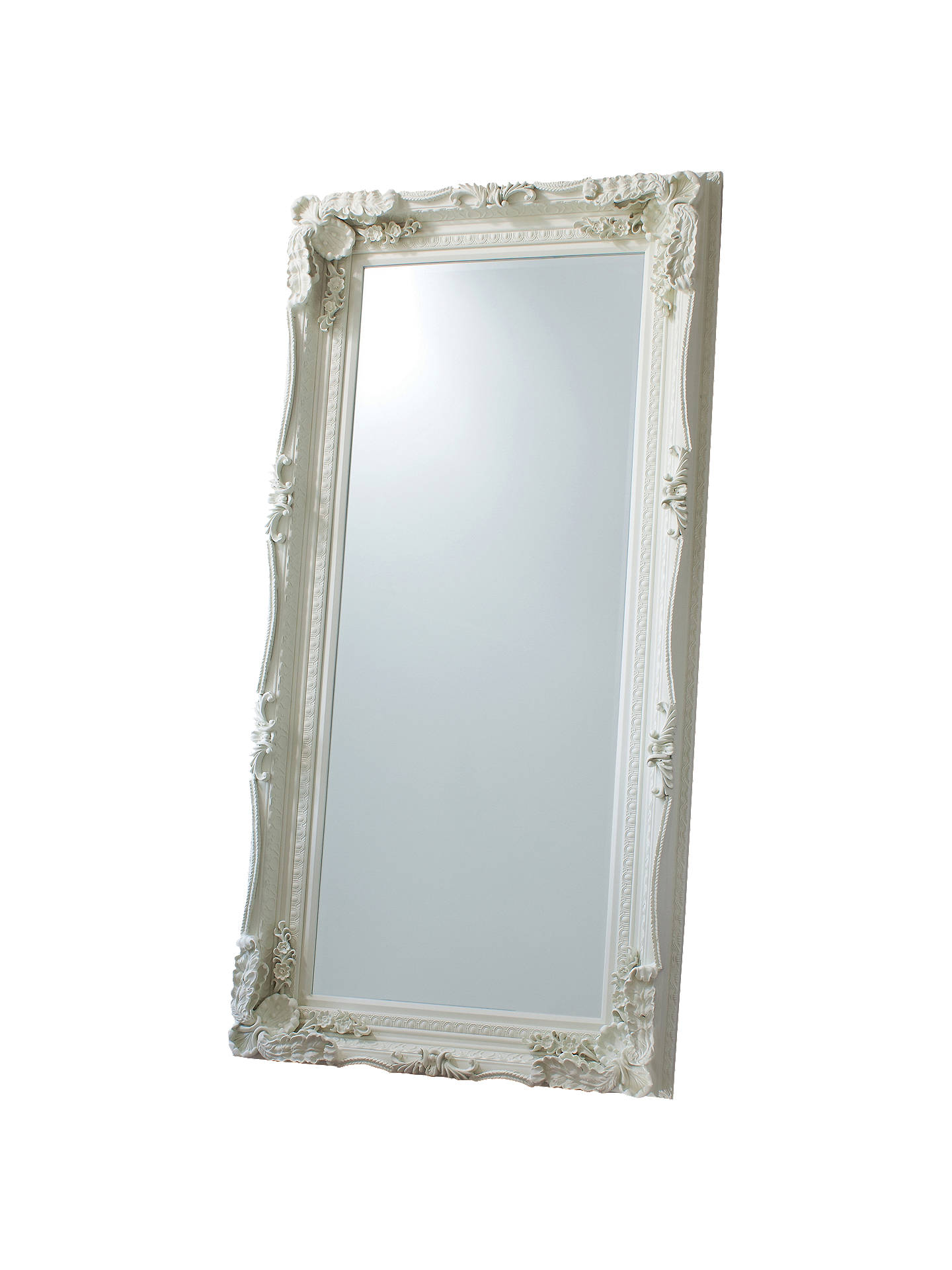 BuyCarved Louis Leaner Mirror, Cream, 176 x 89.5cm Online at johnlewis.com