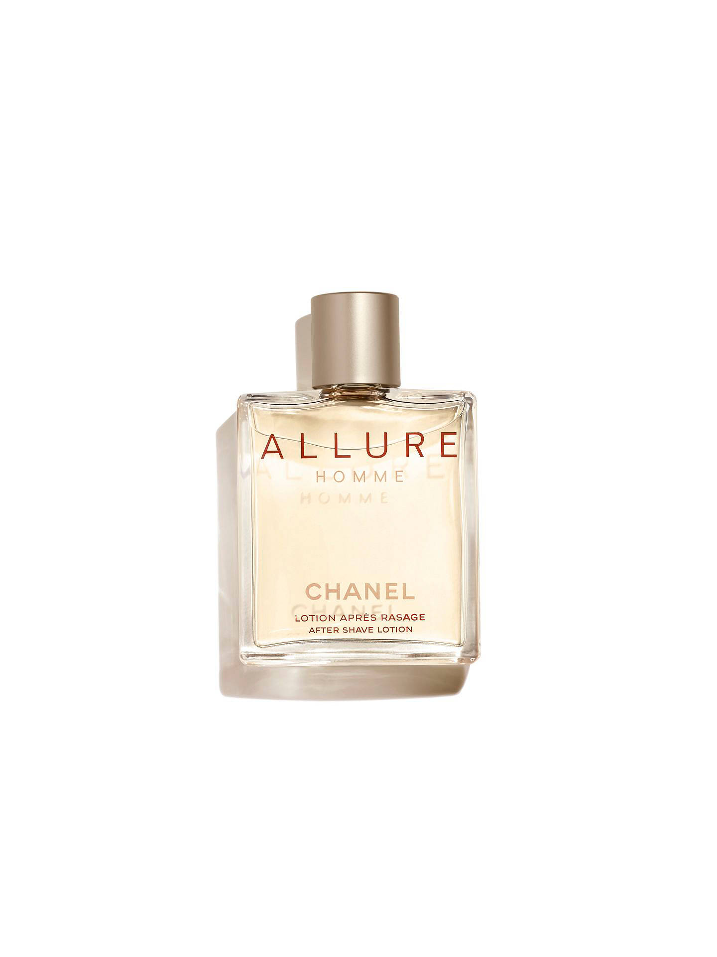 aa78036ff1da Buy CHANEL ALLURE HOMME After-Shave Lotion, 100ml Online at johnlewis.com