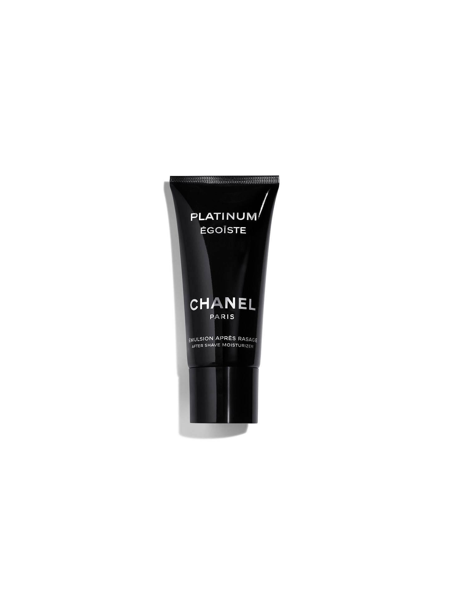 BuyCHANEL PLATINUM ÉGOÏSTE After-Shave Moisturiser Online at johnlewis.com 7ca309c94d68