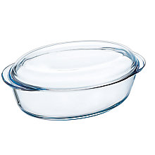 Buy Pyrex Large Oval Glass Casserole Dish, 4L Online at johnlewis.com