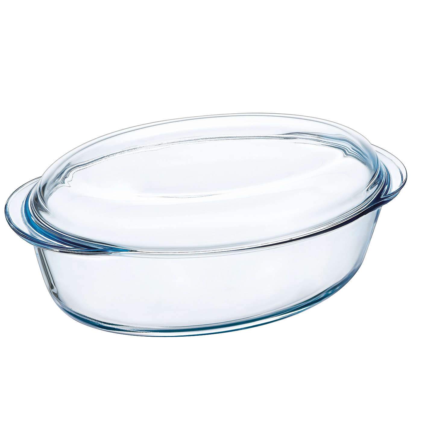 pyrex large oval glass casserole dish 4l at john lewis