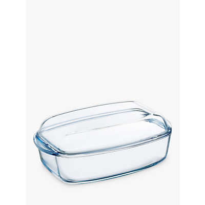 Pyrex Glass Rectangular Casserole Oven Dish with Lid, 6.5L