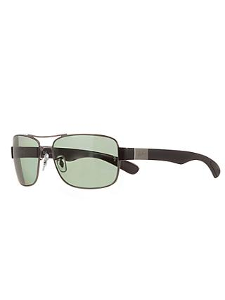 2aacf27de17ed Ray-Ban RB3522 Square Framed Polarised Sunglasses