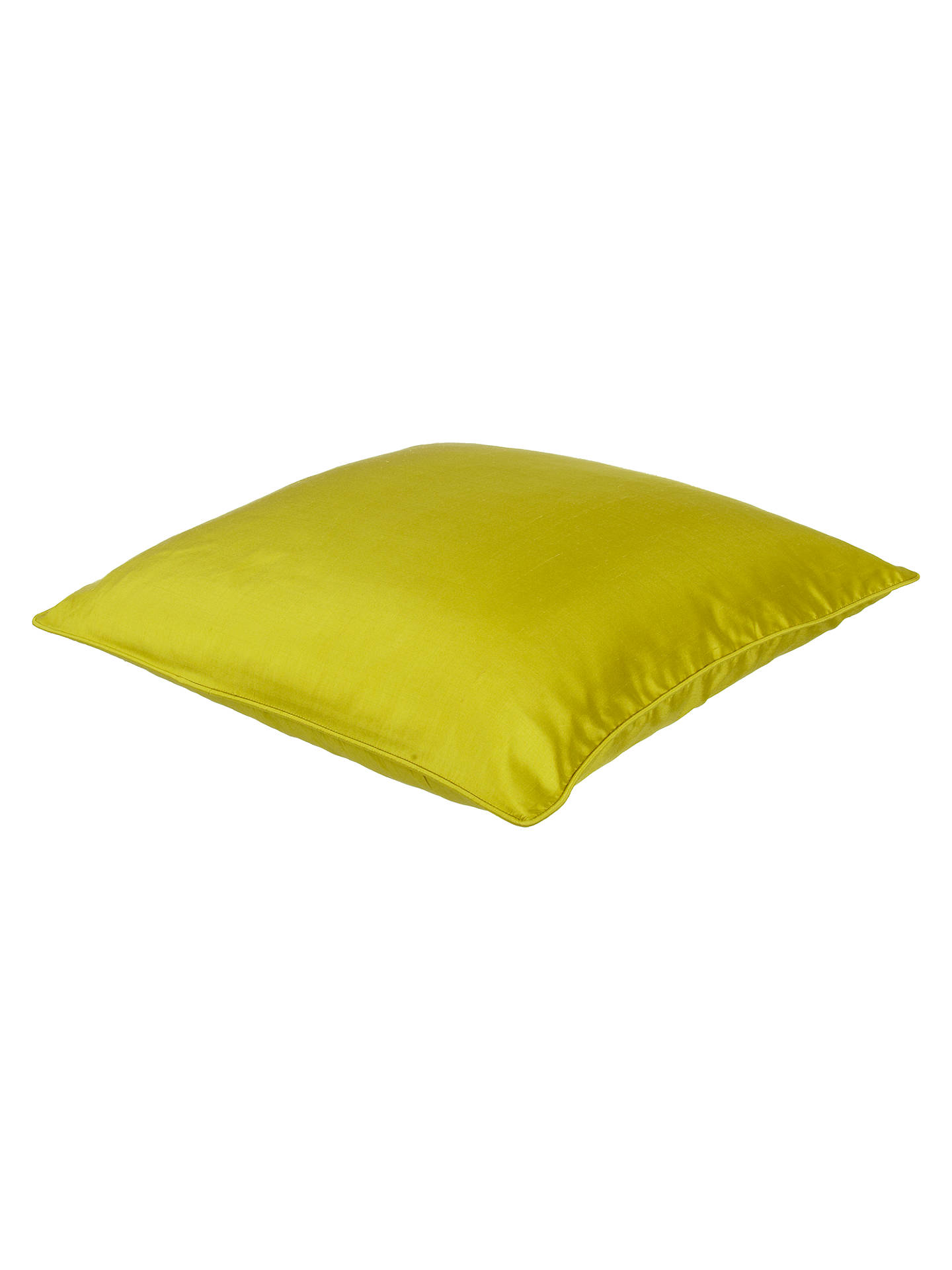 BuyJohn Lewis & Partners Silk Cushion, Chartreuse Online at johnlewis.com