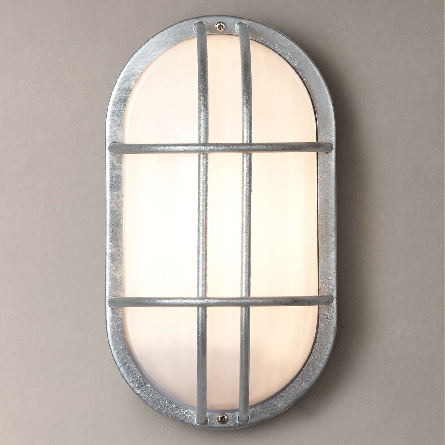 Garden trading st ives bulkhead galvanised outdoor light at john lewis buygarden trading st ives bulkhead galvanised outdoor light online at johnlewis mozeypictures Image collections