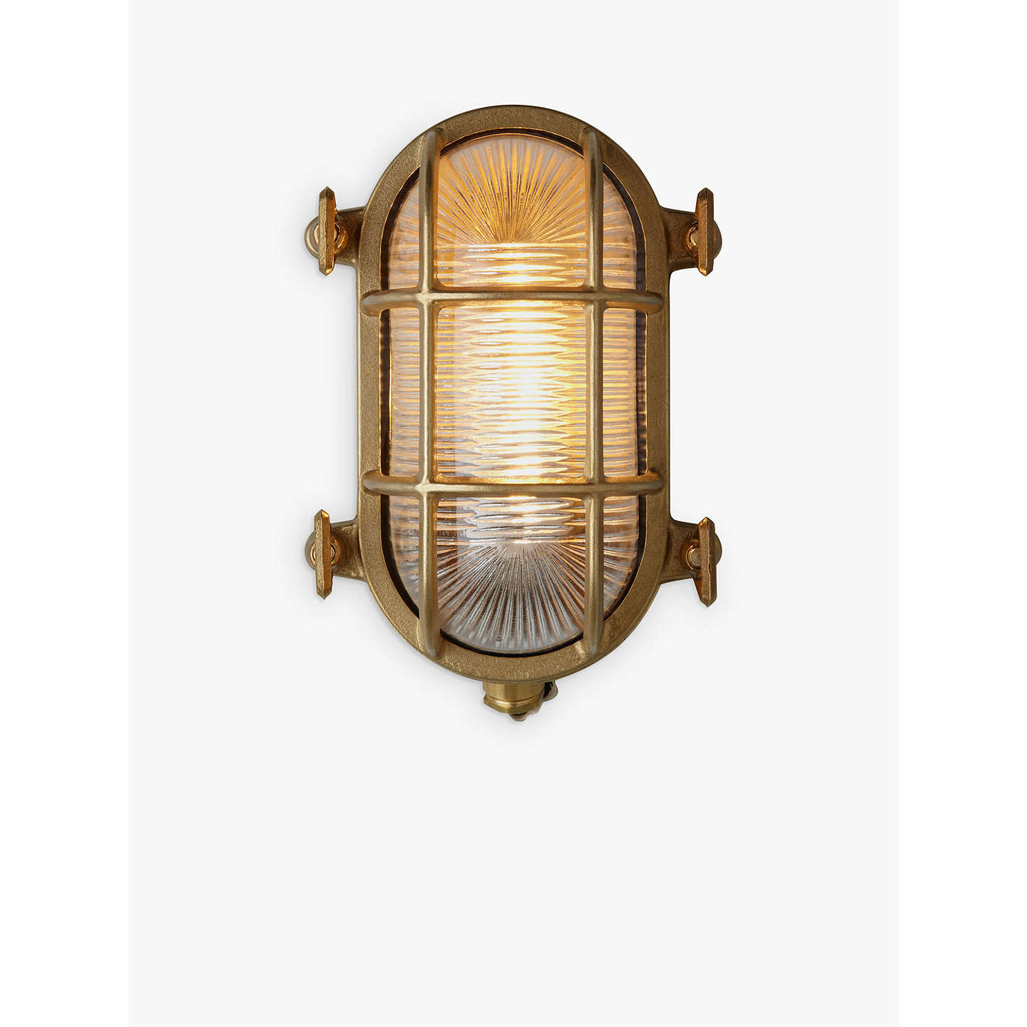 Nordlux bulkhead outdoor wall light at john lewis buynordlux bulkhead outdoor wall light solid brass online at johnlewis mozeypictures Images