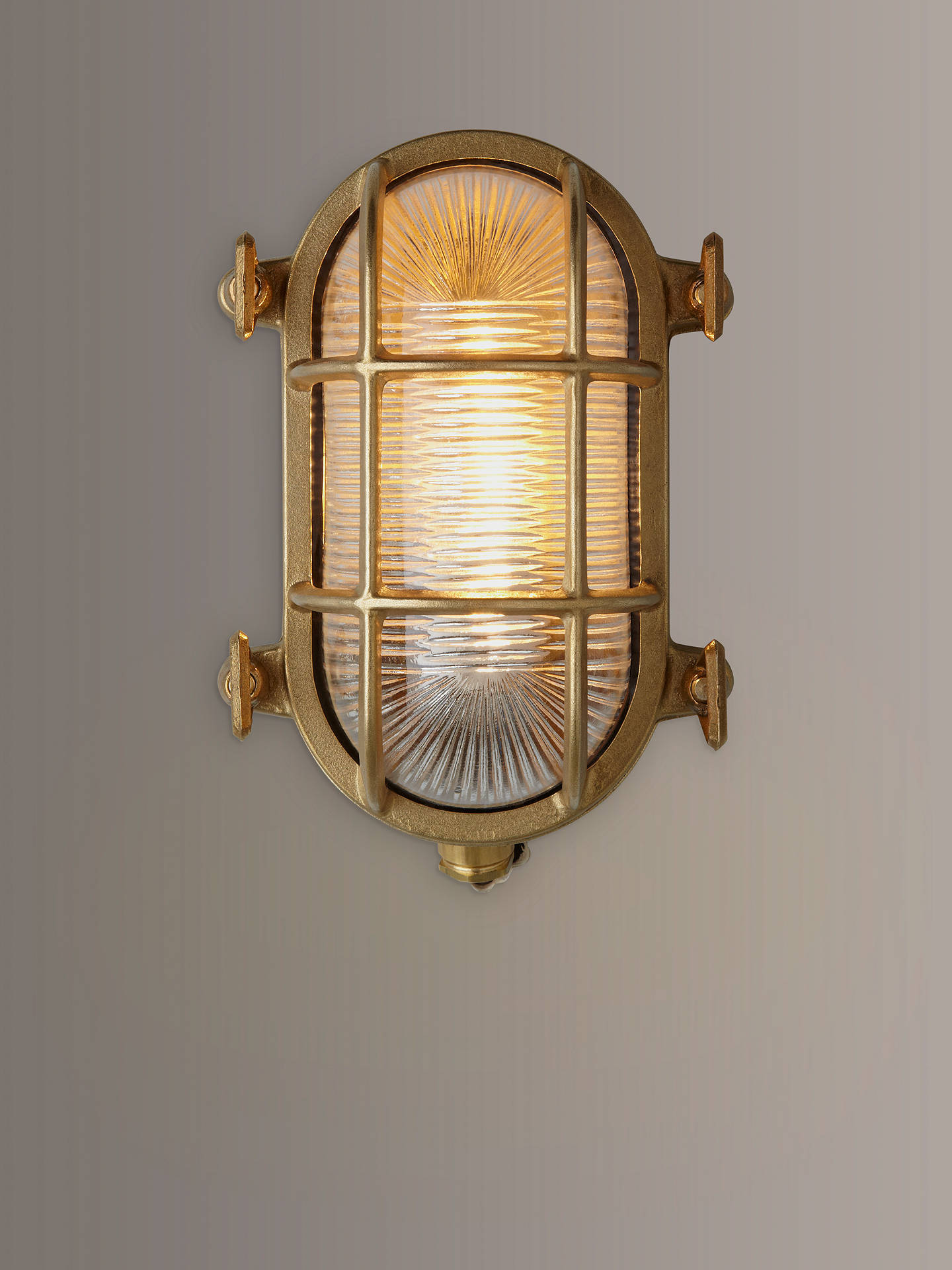 Buy Nordlux Bulkhead Outdoor Wall Light, Solid Brass Online at johnlewis.com