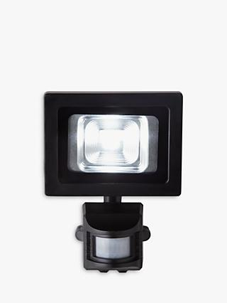 John Lewis & Partners Seleno PIR Sensor Security LED Outdoor Light, Black