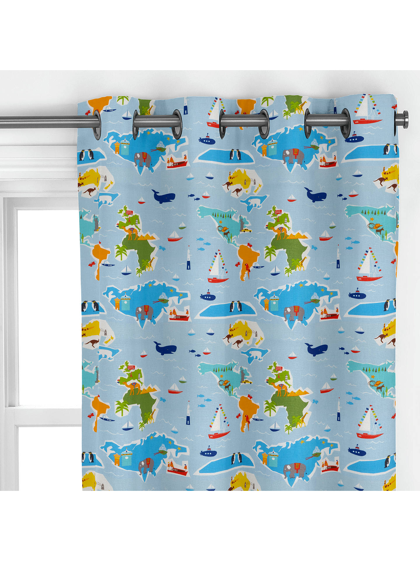 Buylittle home at John Lewis Globe Trotter Curtain Online at johnlewis.com
