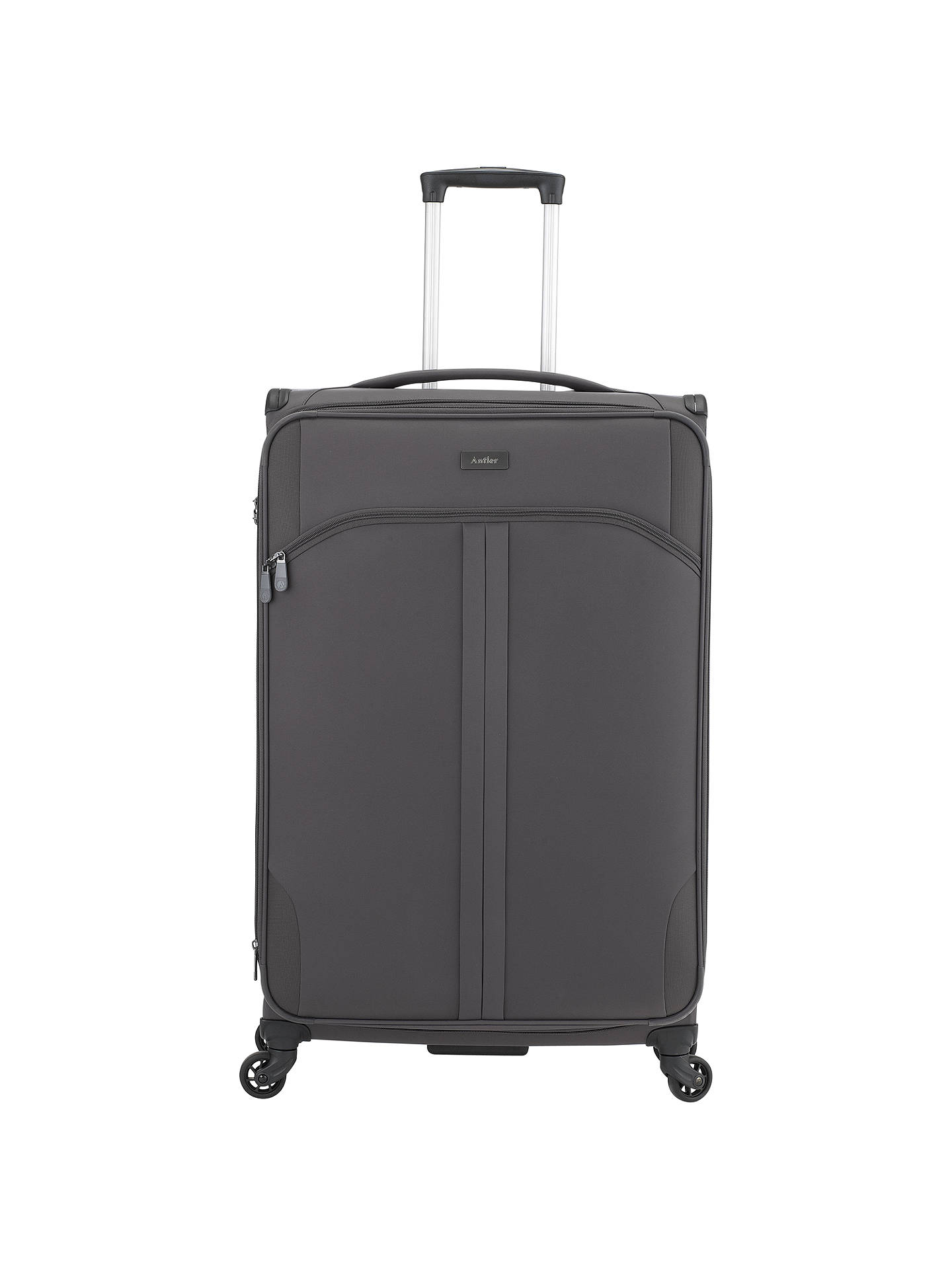 BuyAntler Aire 4-Wheel 80cm Large Suitcase, Charcoal Online at  johnlewis.com ... df859bb35f