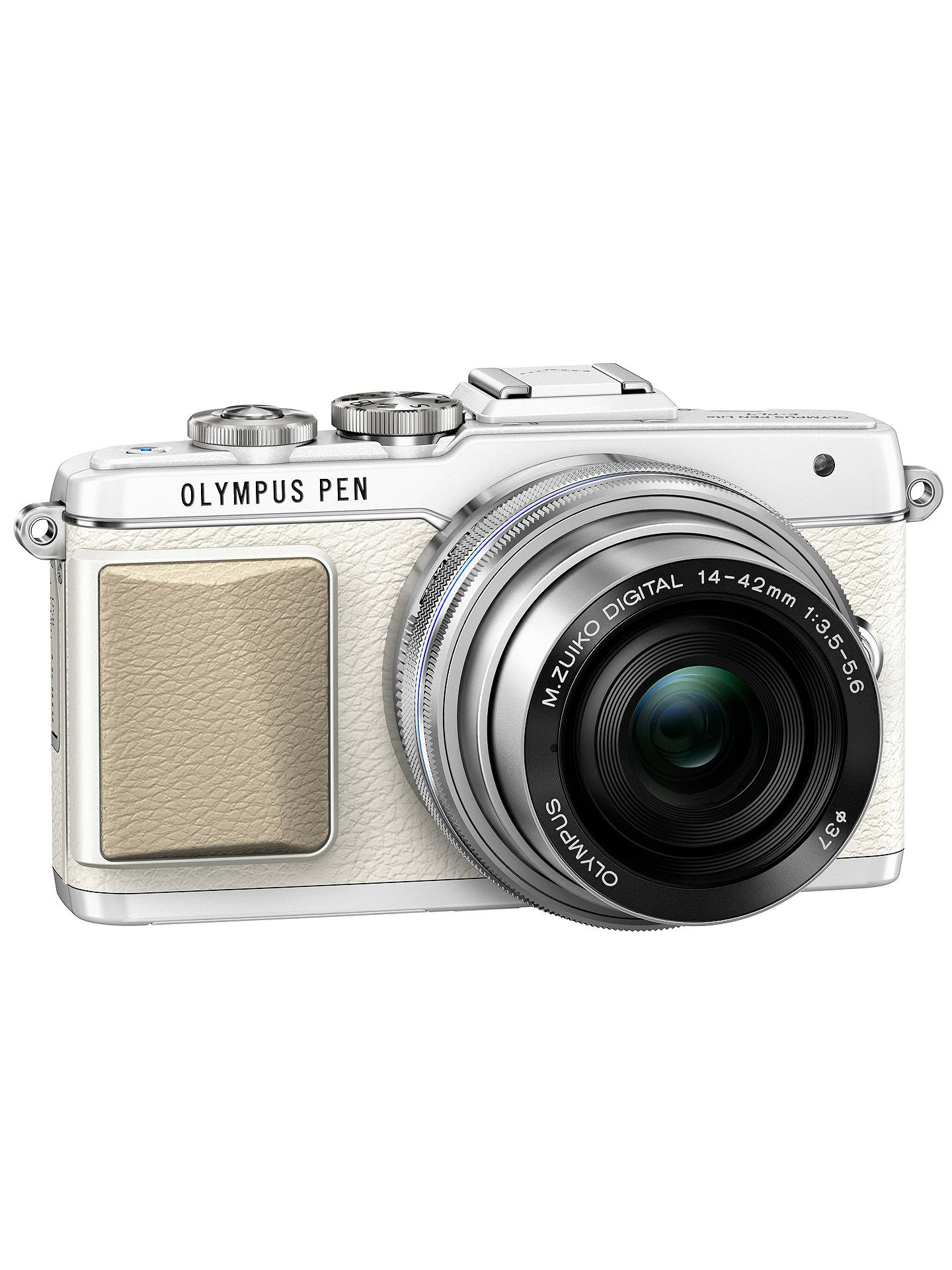 "BuyOlympus PEN E-PL7 Compact System Camera with 14-42mm EZ Lens, HD 1080p, 16.1MP, 3"" LCD Touch Screen, White Online at johnlewis.com"