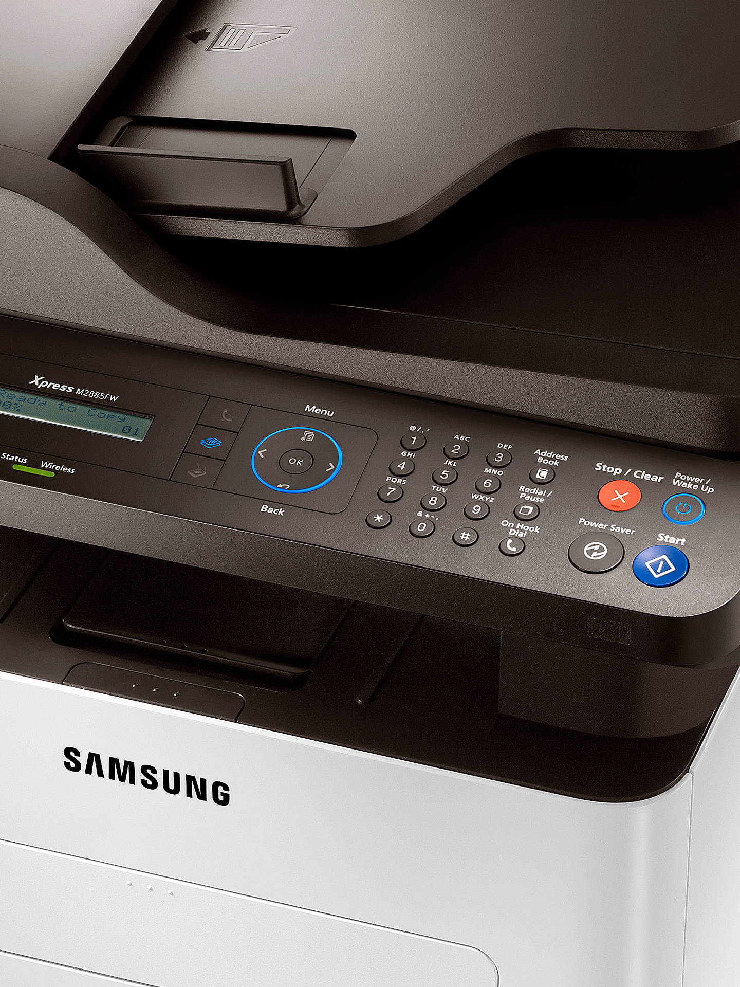 Buy Samsung Xpress M2885FW Wireless All-in-One Multifunction Mono Laser Printer & Fax Machine Online at johnlewis.com