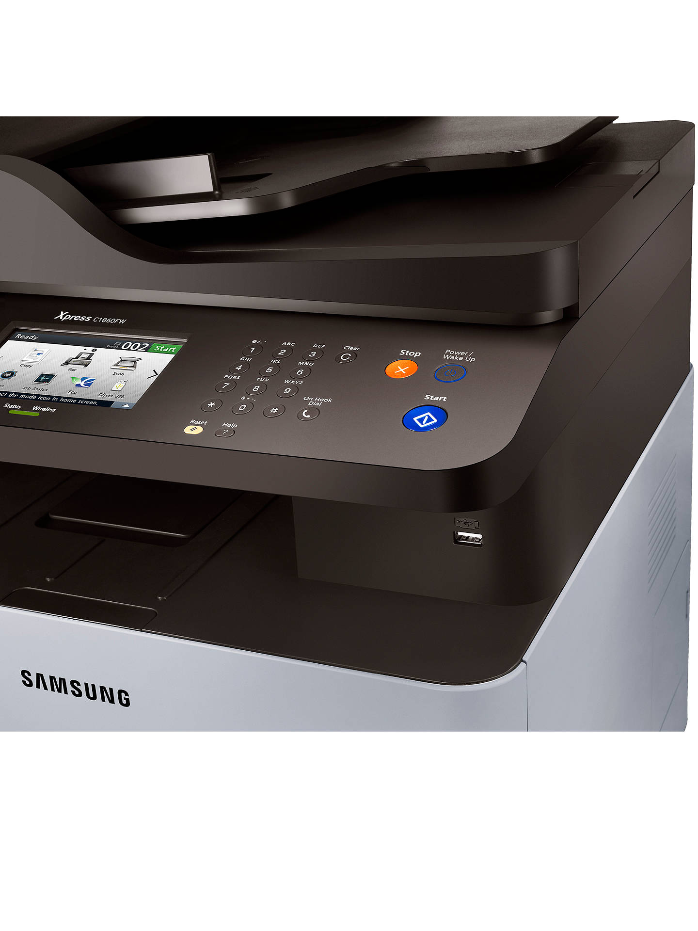 Buy Samsung Xpress SL-C1860FW Wireless All-in-One Multifunction Colour Laser Printer & Fax Machine with NFC Online at johnlewis.com