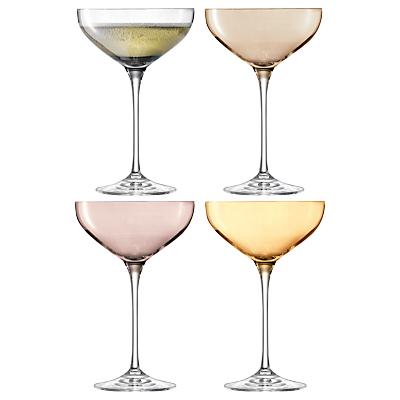 LSA International Polka Metallic Champagne Saucers, Set of 4