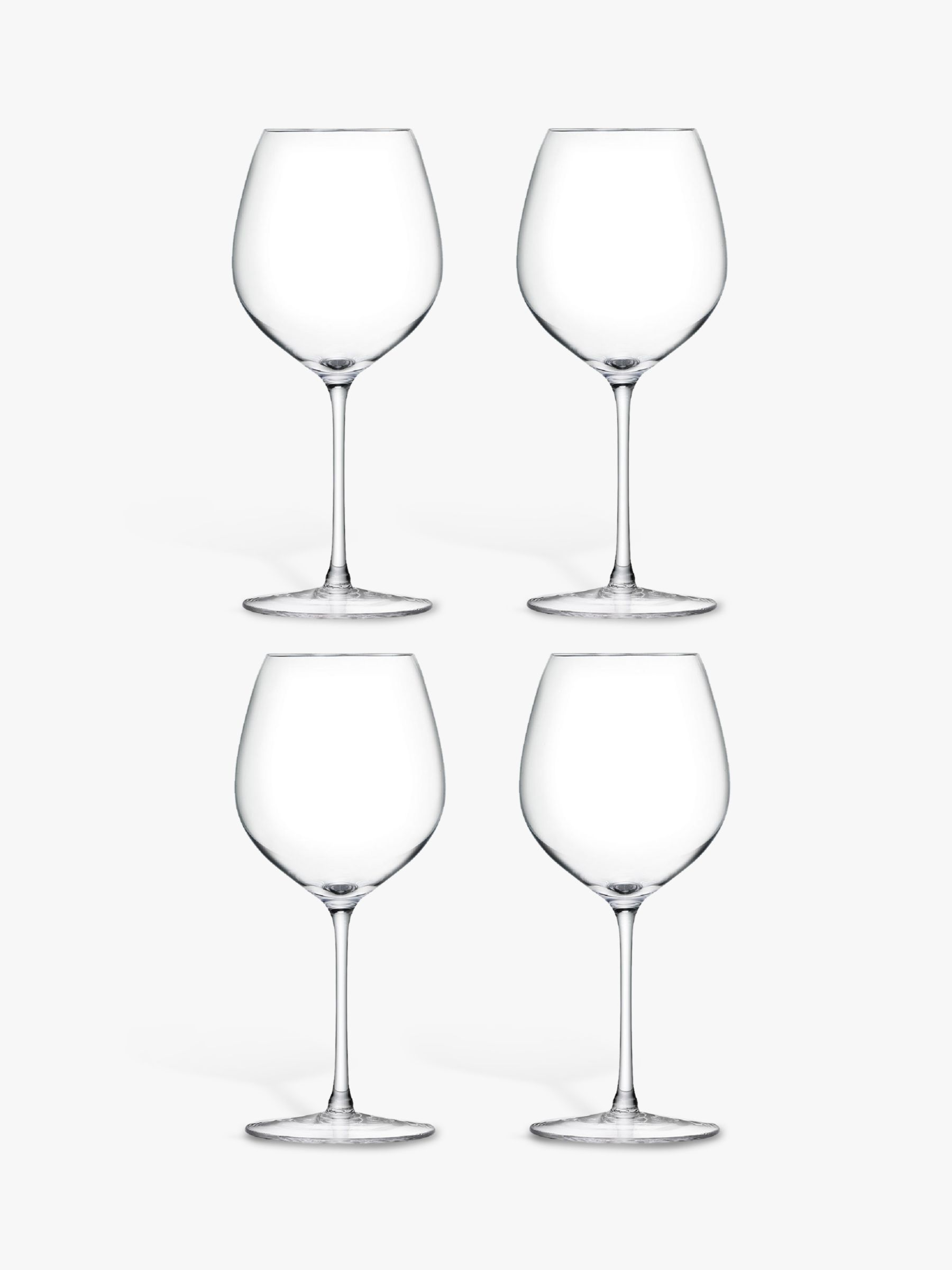 LSA International LSA International Bar Collection Red Wine Glasses, Set of 4, 400ml, Clear