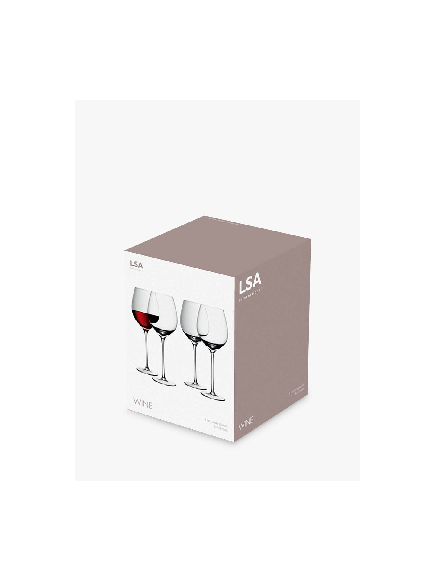 Buy LSA International Bar Collection Red Wine Glasses, Set of 4, 400ml, Clear Online at johnlewis.com