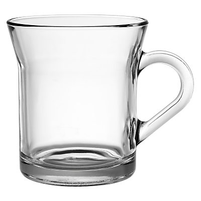 John Lewis Café Cappuccino Mugs, Set of 2, Clear, 335ml