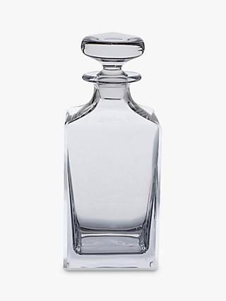 Dartington Crystal Square Spirit Decanter, 650ml, Clear