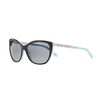 Tiffany & Co TF4094B Polarised Sunglasses, Black/Blue