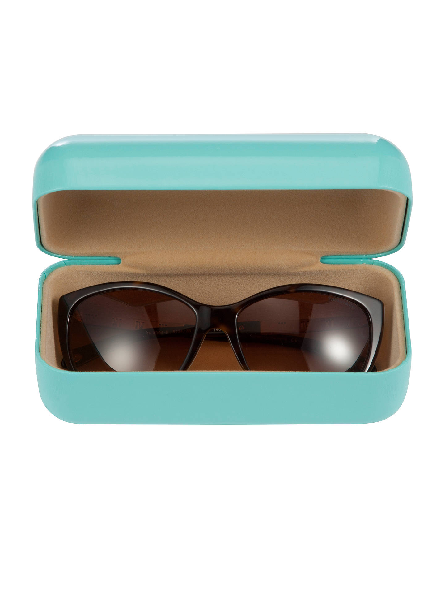 BuyTiffany & Co TF4094B Sunglasses, Blue/Brown Online at johnlewis.com