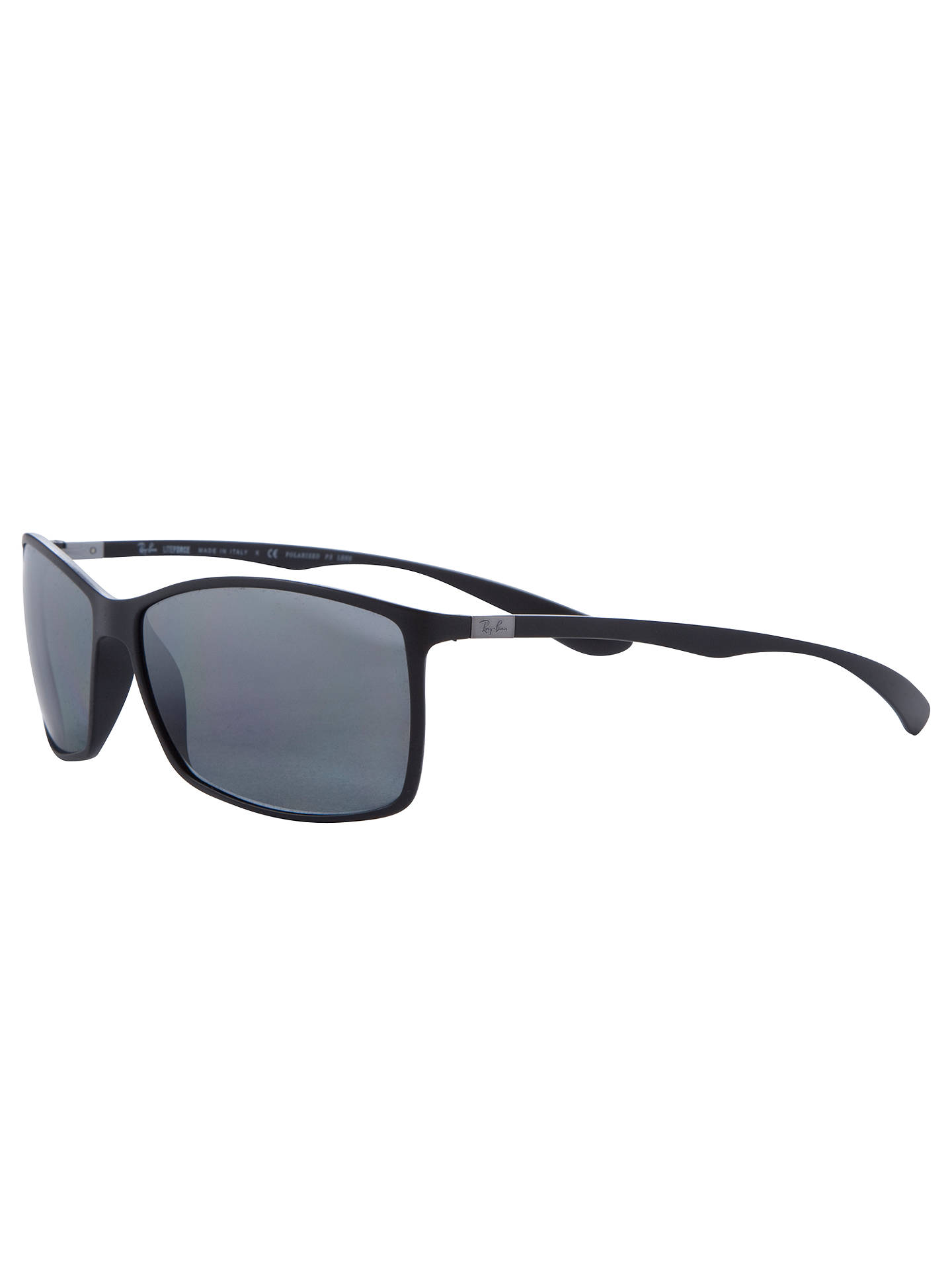228933407cef1 Ray-Ban RB4179 Men s Liteforce Tech Polarised Rectangular Sunglasses ...