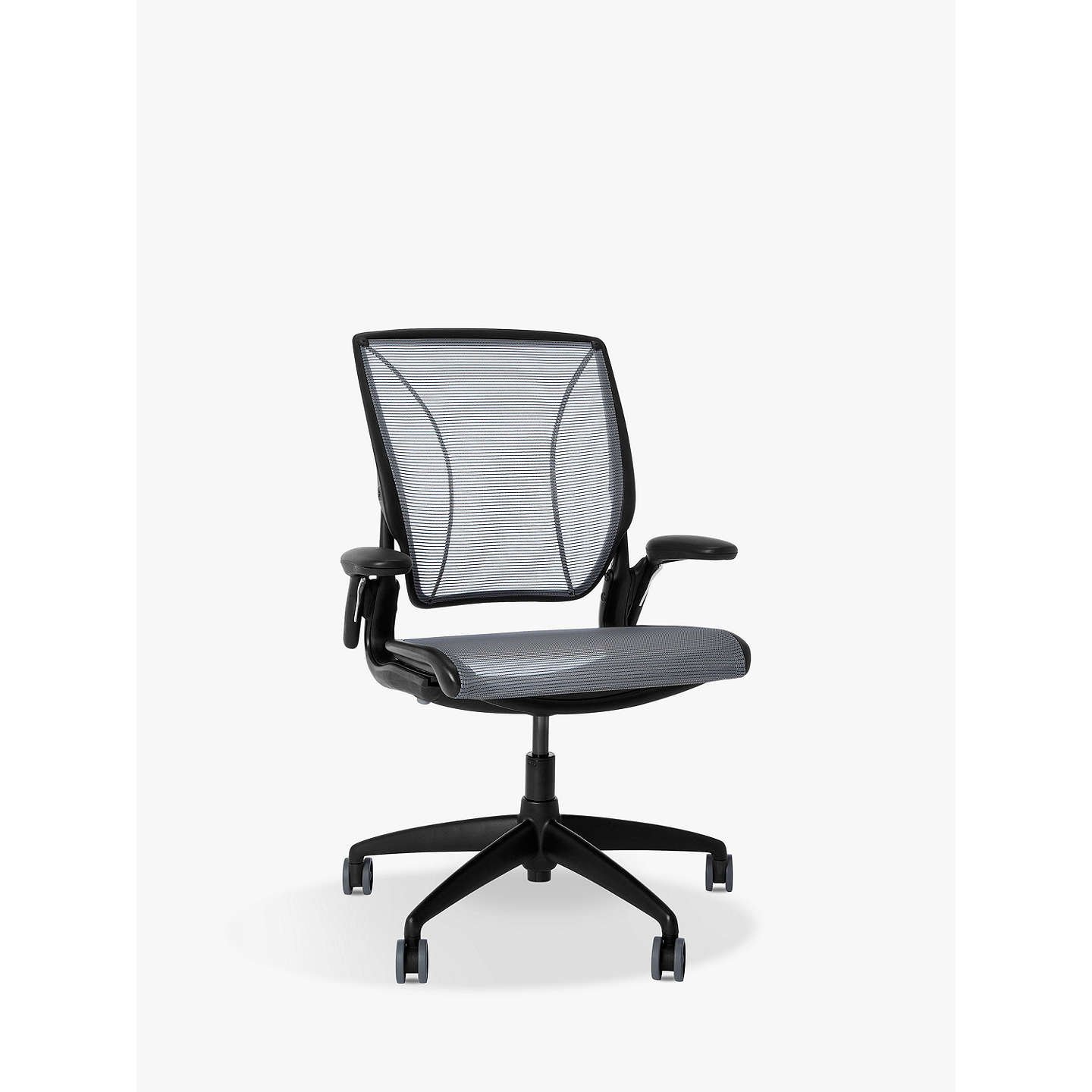 Humanscale Diffrient World Office Chair Black Metal Base At Johnlewis Com