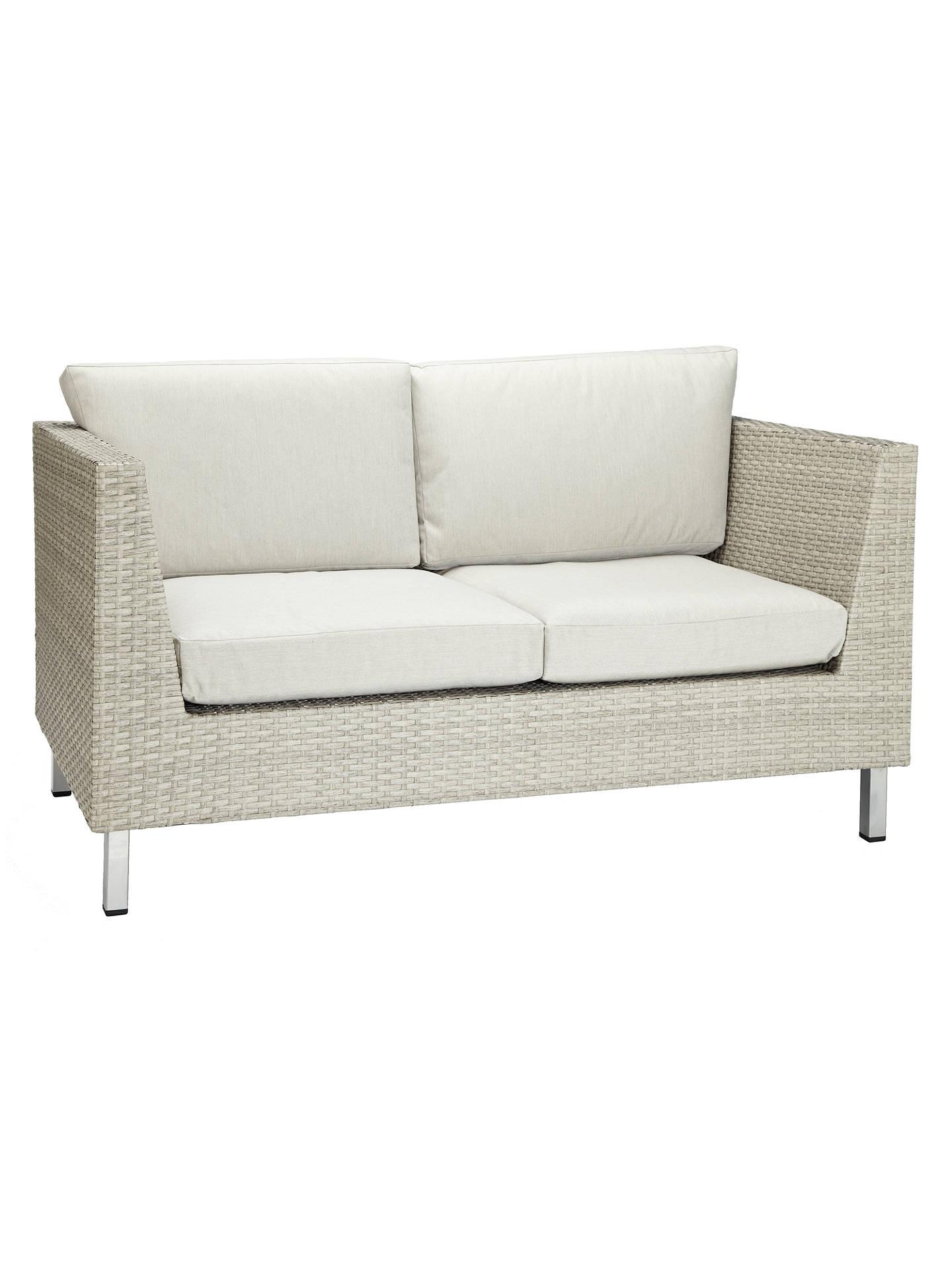 BuyJohn Lewis U0026 Partners Madrid 2 Seater Outdoor Sofa, Grey Marl Online At  Johnlewis.