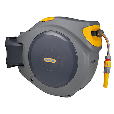 Hozelock Retracting Wall-Mounted Hose Reel, 30m