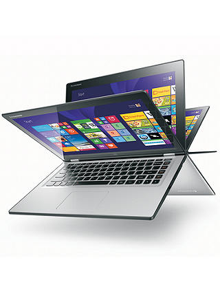 "Buy Lenovo Yoga 2 Convertible Ultrabook, Intel Core i5, 8GB RAM, 500GB + 8GB SSHD, 13.3"" Touch Screen, Silver Grey Online at johnlewis.com"