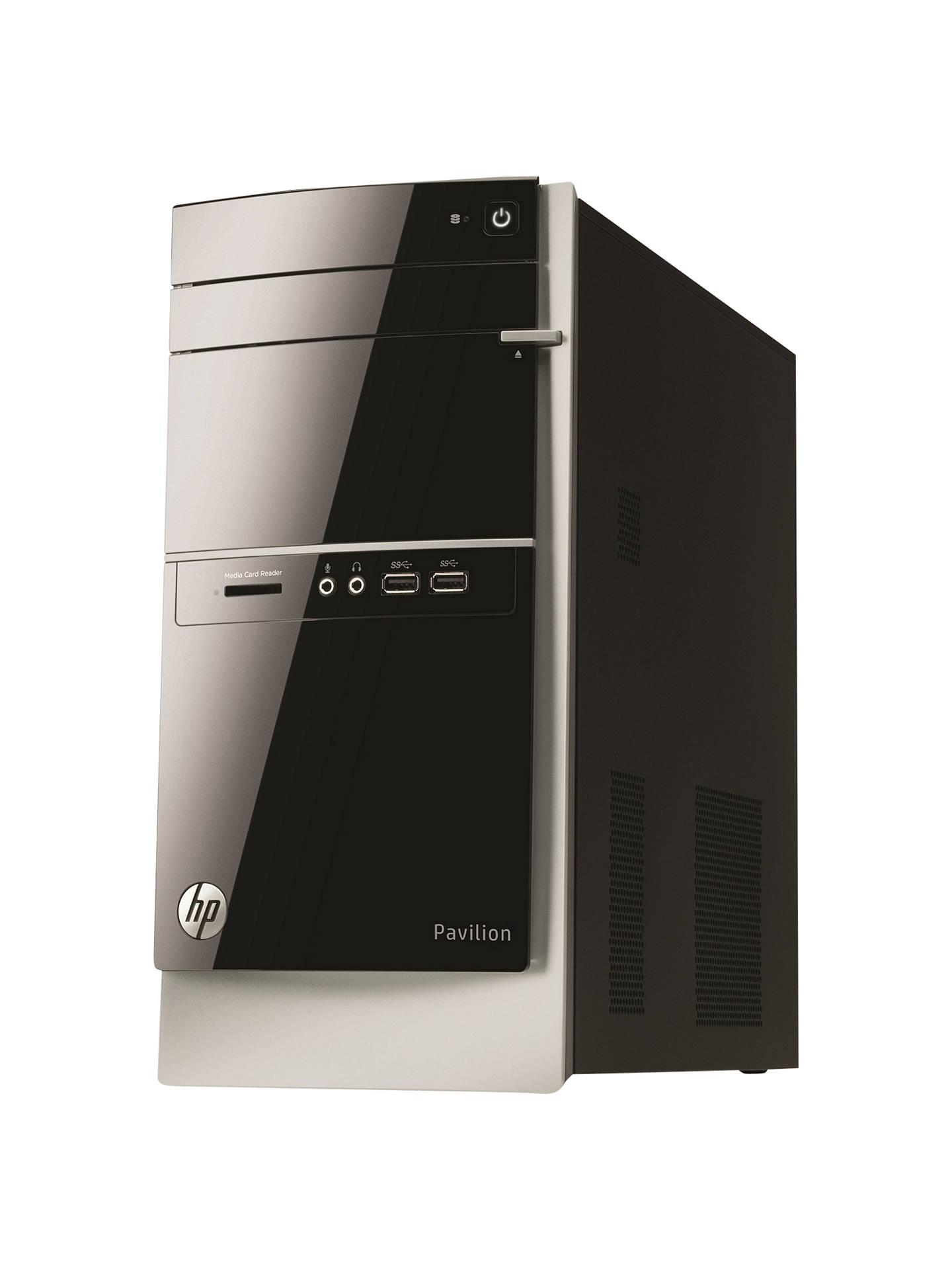 HP Pavilion 500-400na Desktop PC, AMD A10, 6GB RAM, 2TB, Black at