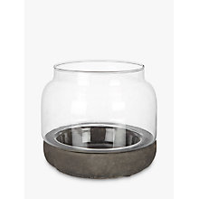 Buy Concrete Base Hurricane Candle Holder, Small Online at johnlewis.com