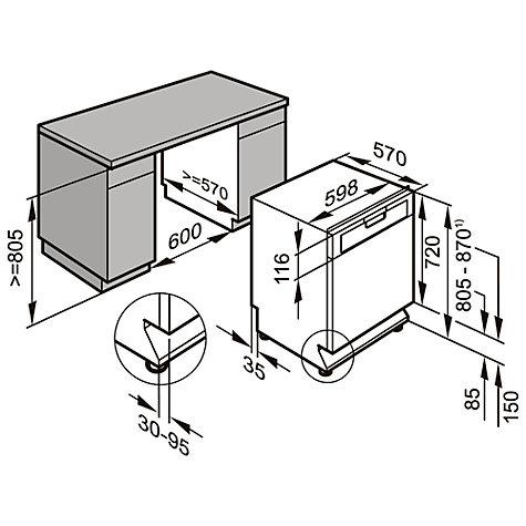 Buy Miele G4920 BK Freestanding Dishwasher, Clean Steel