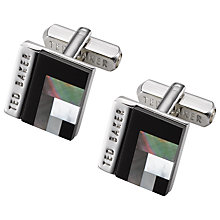 Buy Ted Baker Burro Art Deco Style Square Cufflinks Online at johnlewis.com