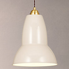 Buy Anglepoise Original 1227 Brass Maxi Pendant, Light Taupe Online at johnlewis.com