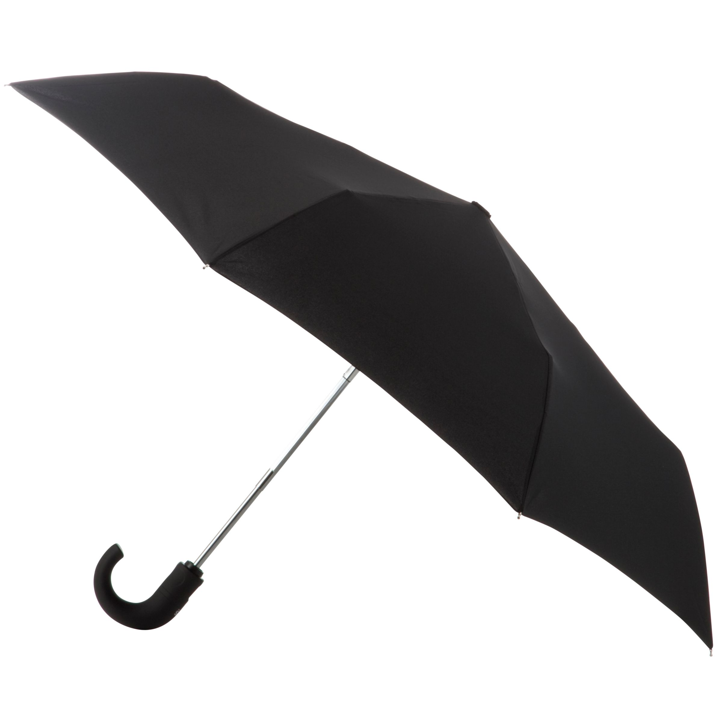 Totes totes Wonderlight Auto Open/Close Crook Umbrella, Black
