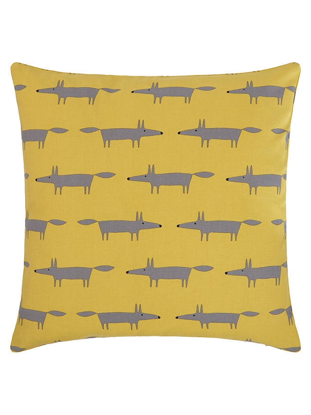 Buy Scion Mini Mr Fox Cushion, Yellow / Grey Online at johnlewis.com
