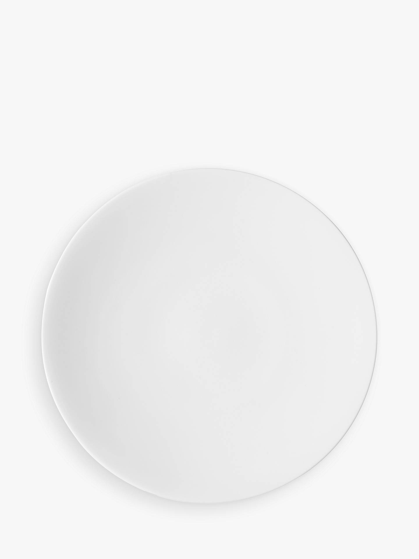 Buy John Lewis & Partners Concave Bone China 28cm Dinner Plate, White Online at johnlewis.com
