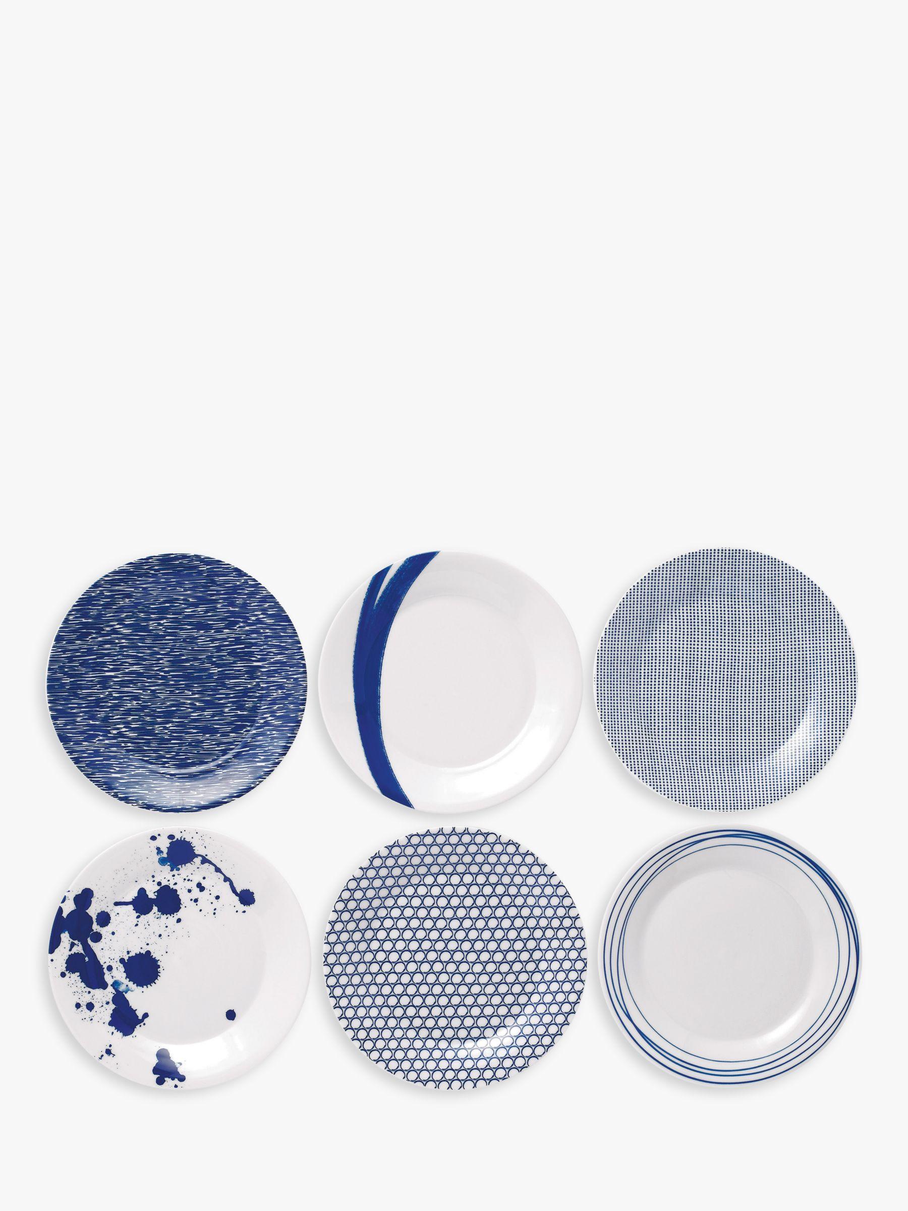 Royal Doulton Royal Doulton Pacific Porcelain Side Plates, Set of 6, 23cm, Blue
