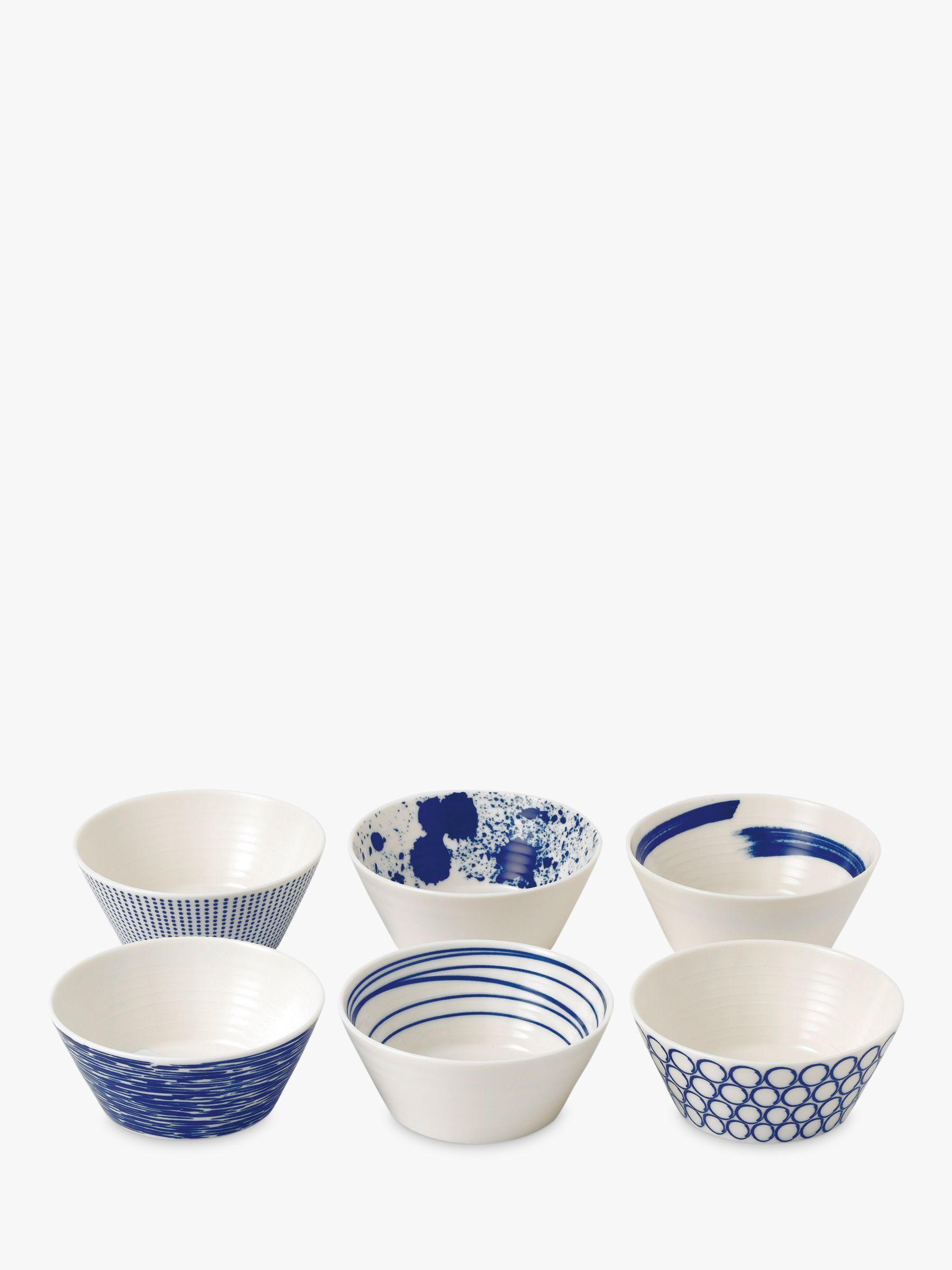 Royal Doulton Royal Doulton Pacific Porcelain Tapas Bowls, Set of 6, 11cm, Blue