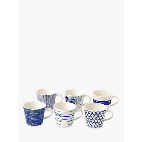 buy royal doulton pacific porcelain mugs set of 6 blue john lewis. Black Bedroom Furniture Sets. Home Design Ideas