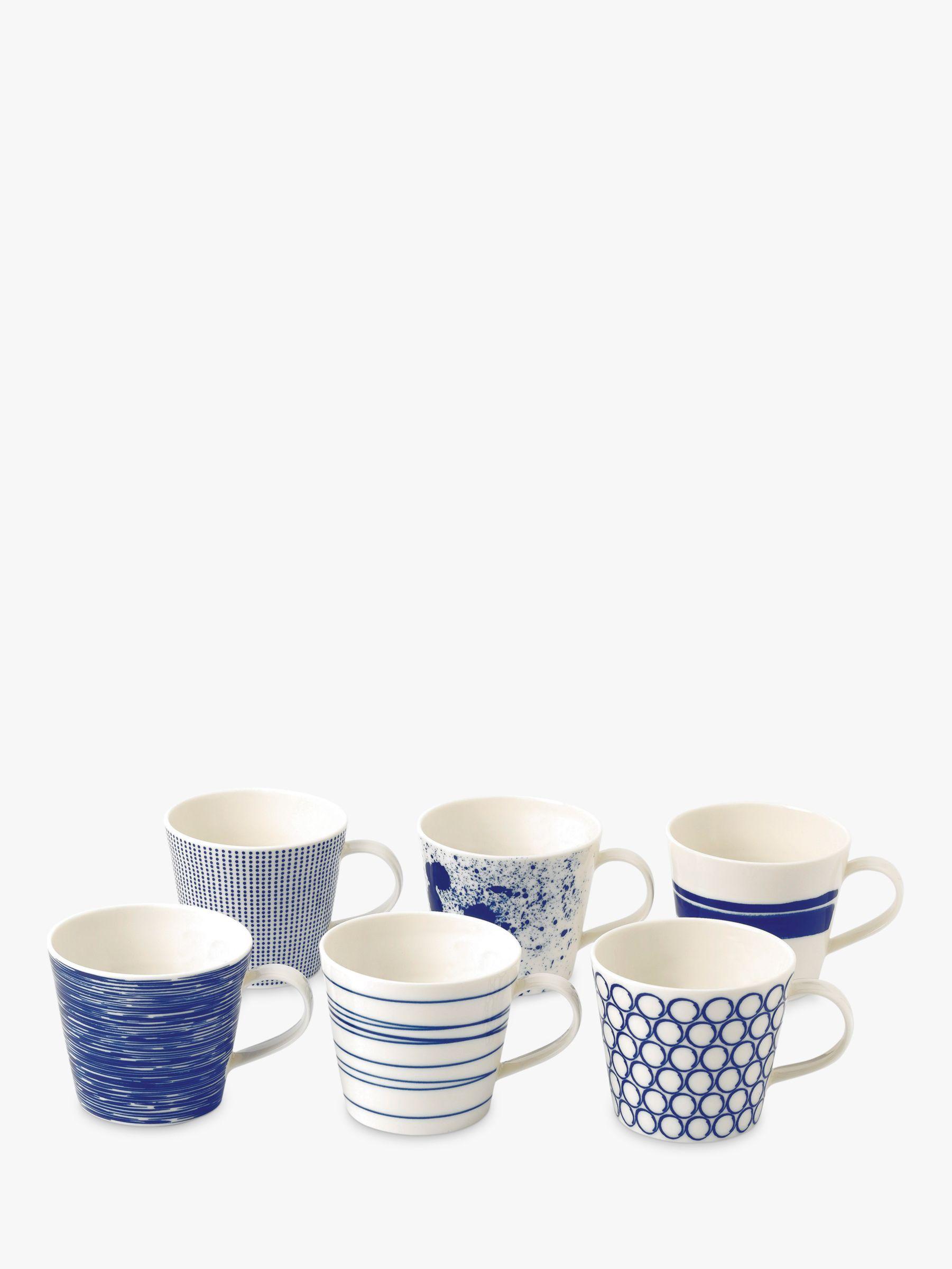 Royal Doulton Royal Doulton Pacific Porcelain Mugs, Set of 6, 390ml, Blue