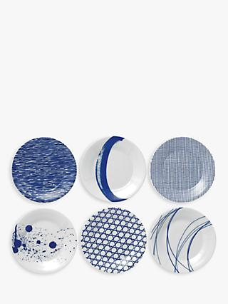 Royal Doulton Pacific Porcelain Tapas Plates, Set of 6