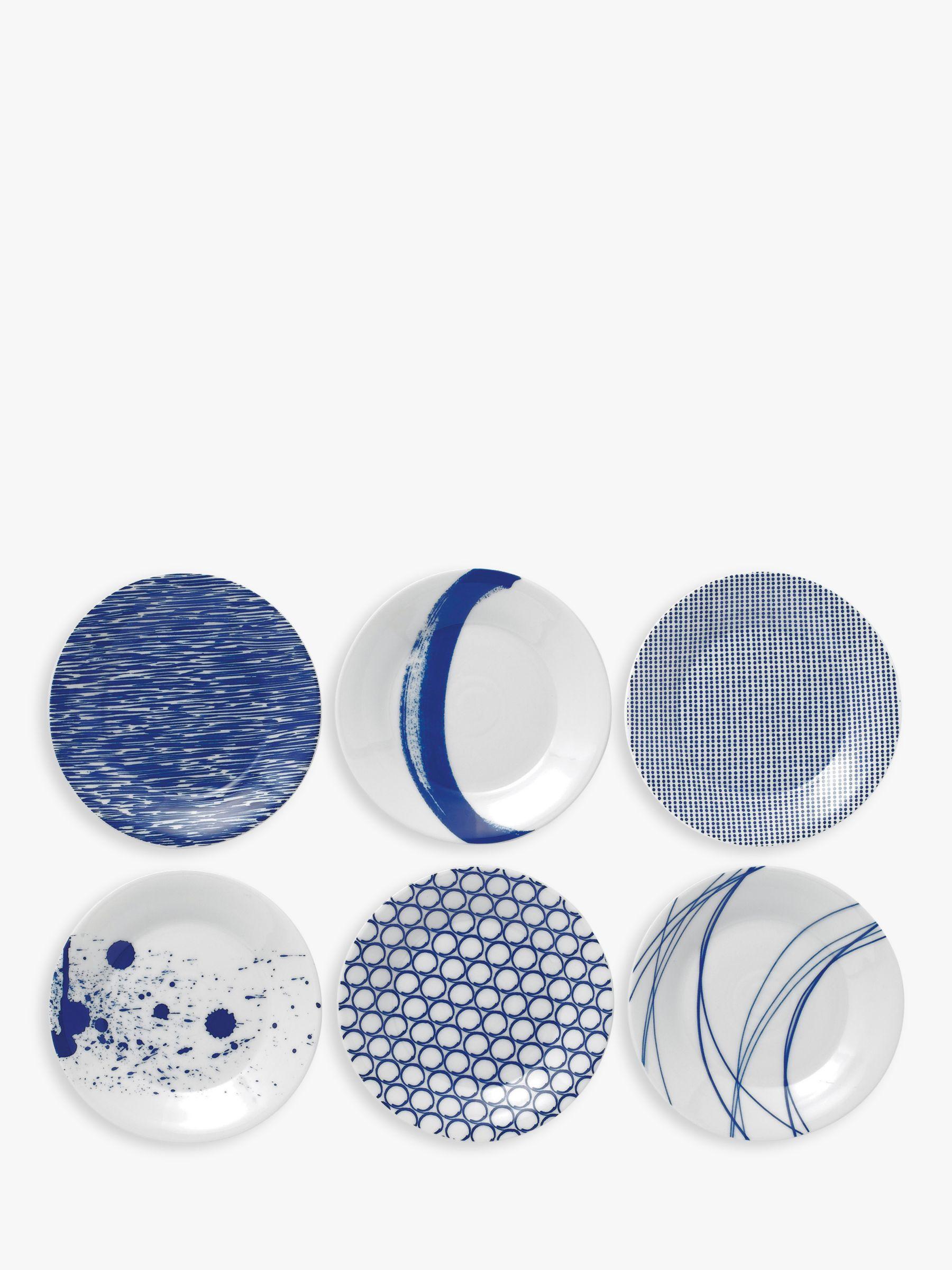 Royal Doulton Royal Doulton Pacific Porcelain Tapas Plates, Set of 6, 16cm, Blue