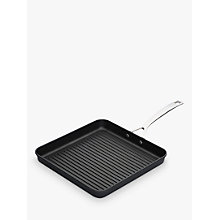 Buy Le Creuset Toughened Non-Stick Rib Square Grill, 28cm Online at johnlewis.com