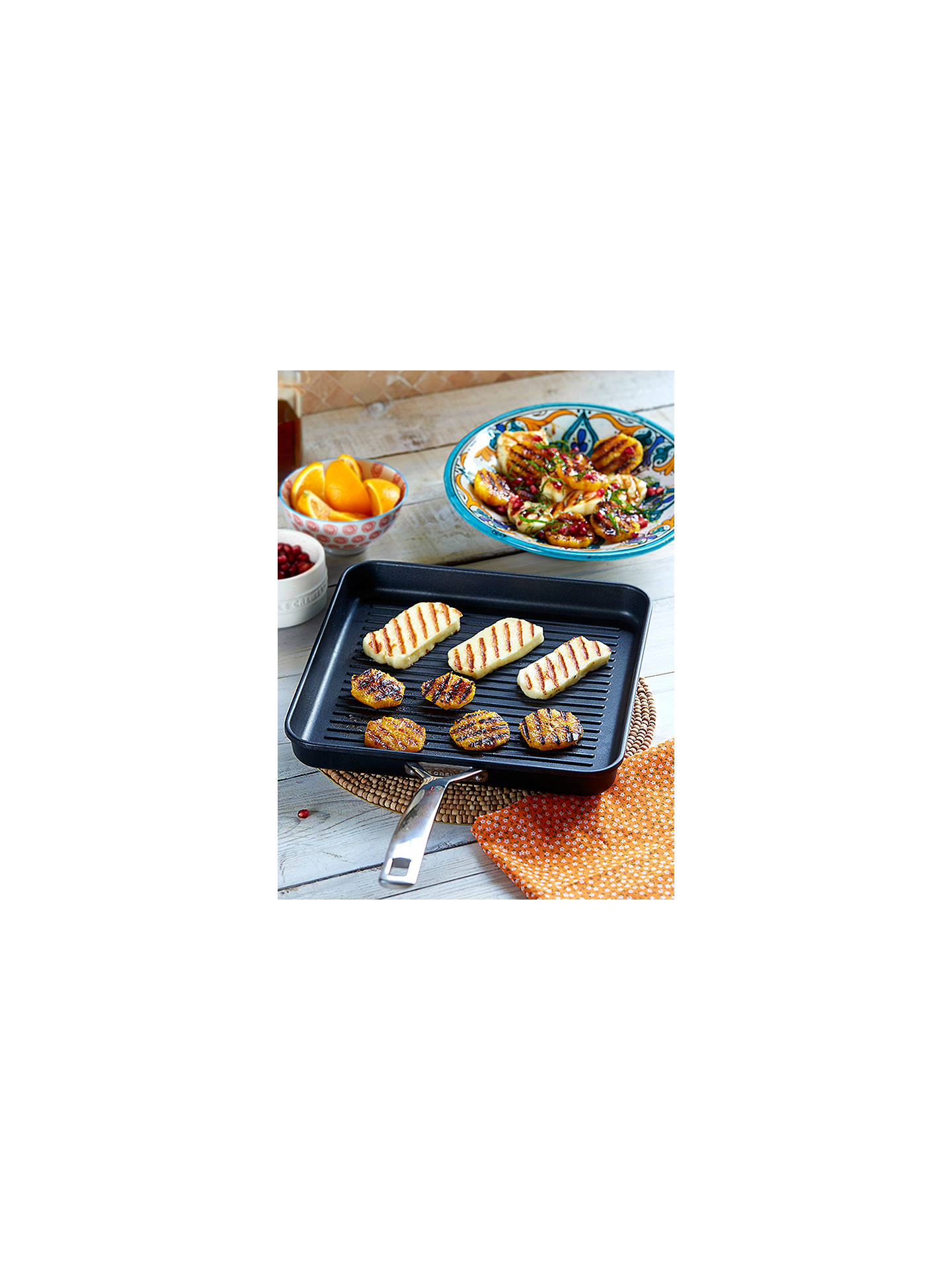 BuyLe Creuset Toughened Non-Stick Rib Square Grill, 28cm Online at johnlewis.com