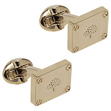 Buy Mulberry Plaque Cufflinks, Gold Online at johnlewis.com