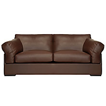Buy John Lewis Java Large 3 Seater Leather Sofa, Nature Brown Online at johnlewis.com