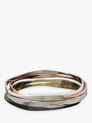 John Lewis & Partners Wave Bangles, Multi